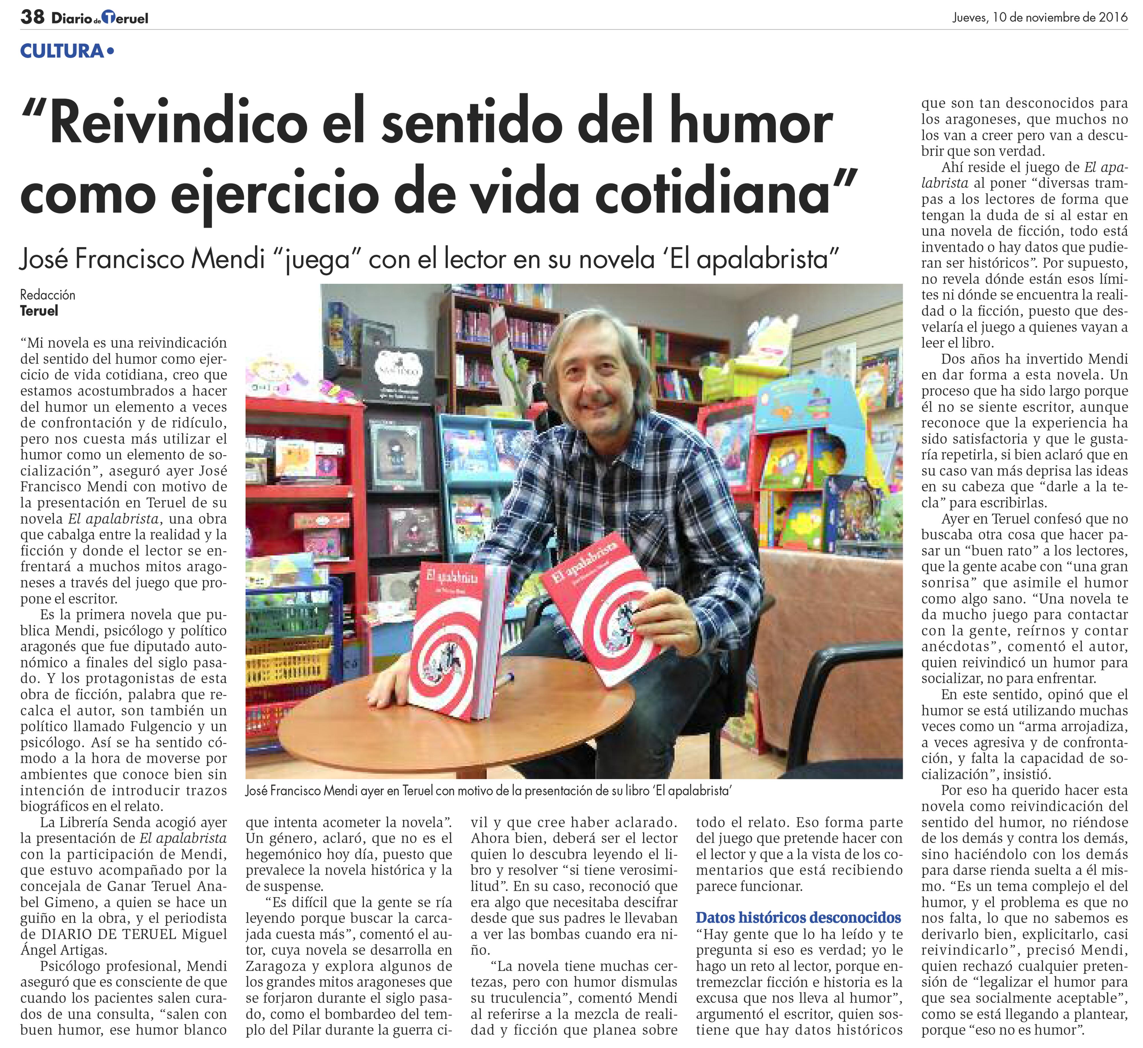 entrevista Diario de Teruel